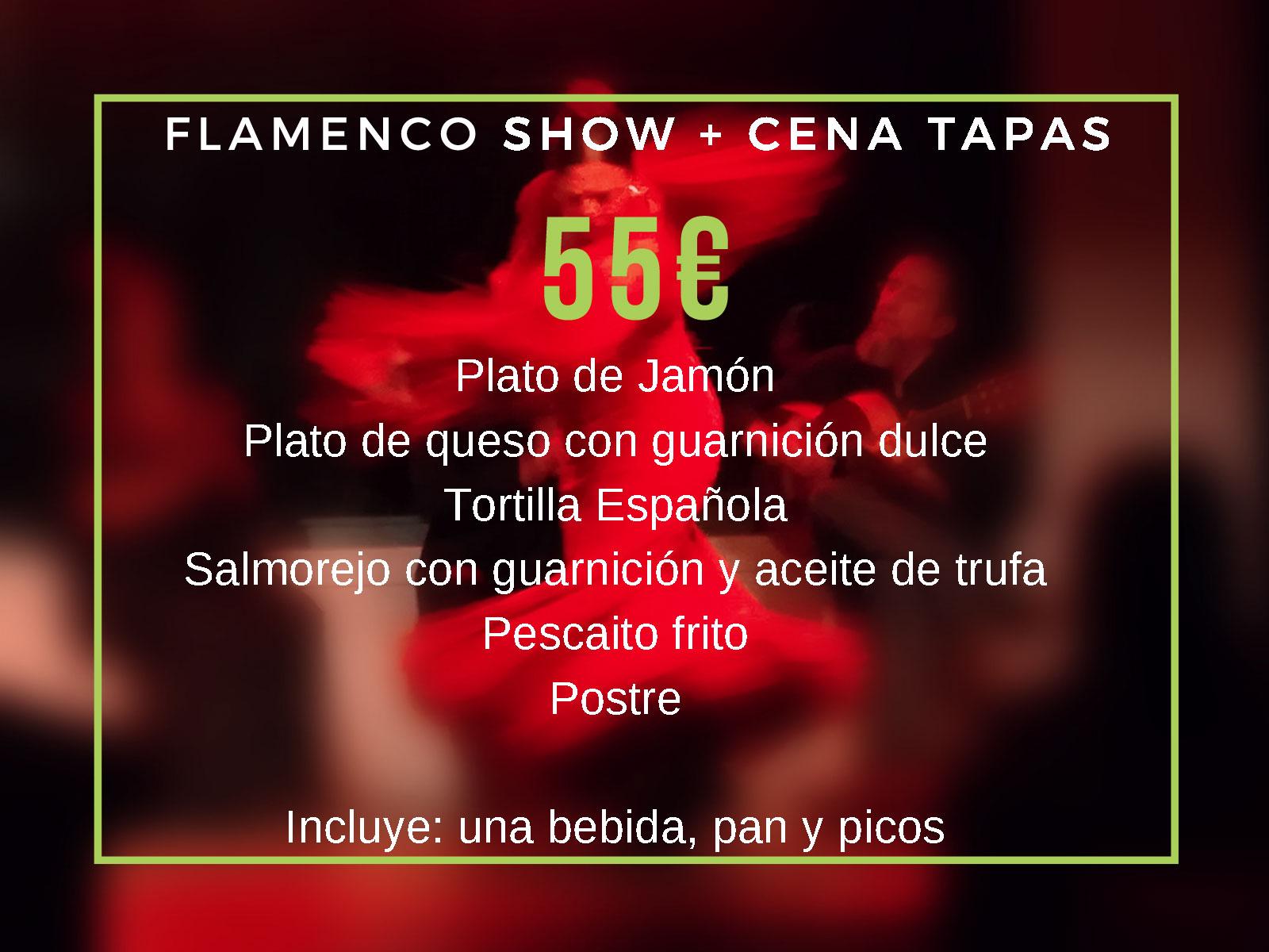 Flamenco show + cena tapas