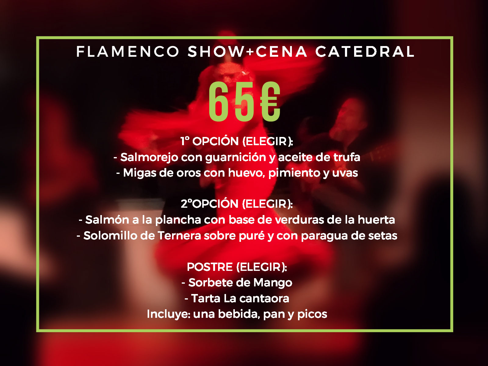 Flamenco show + cena catedral